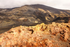 Etna volcano craters in Sicily, Italy Royalty Free Stock Photo
