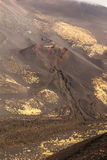 Etna volcano craters in Sicily, Italy Royalty Free Stock Photos