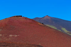 Etna Volcano red blue Stock Photo
