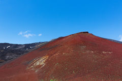 Etna Volcano red Royalty Free Stock Images