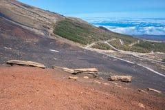 Etna volcano in Sicily, Italy. Etna volcano in Sicily (Italy Royalty Free Stock Photography