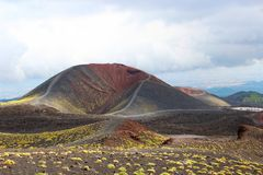 Etna volcano, Sicily, Italy. Silvestri craters of Etna volcano, Sicily, Italy stock photography