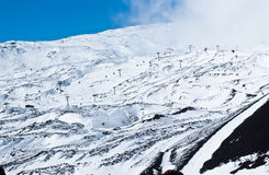 Etna volcano. ski resort Royalty Free Stock Image