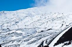 Etna volcano. ski resort. View of the ski resort. Etna volcano. sicily Royalty Free Stock Image