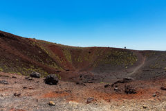 Etna Volcano small caldera Royalty Free Stock Photo