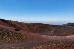 Etna Volcano sylvestre caldera Stock Image