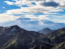 Etna volcano view royalty free stock photo