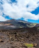 Etna volcano view, Sicily, Italy Royalty Free Stock Images