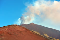 Etna volcanoes Royalty Free Stock Images