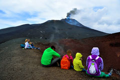 Etna volcanoes Stock Photography