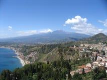 etna vulcan的意大利 免版税库存图片
