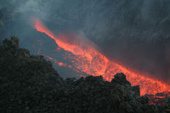 Etna vulcan 15. A close up picture of Etna vulcan magma Stock Photo