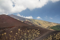 Etna vulcan fotos de stock