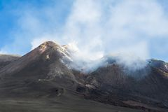 etna vulcano 库存照片