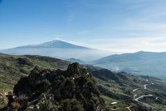 etna vulcano 免版税库存图片