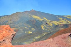 Etna vulkan som är störst i Europa Arkivbilder