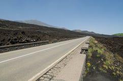 Etna wulkan, Sicily Zdjęcie Royalty Free