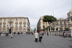 Etnea street in Catania Stock Images
