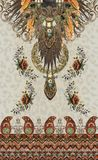 Etnic barock design för djura tryckblommor royaltyfria foton