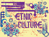 Etnic culture. Urban and grunge tee design Royalty Free Stock Photo