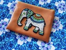 etnic elefant вышивки шариков на ткани Стоковое Изображение RF