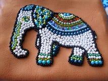 etnic elefant вышивки шариков на ткани Стоковые Изображения RF