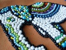 etnic elefant вышивки шариков на ткани Стоковое фото RF