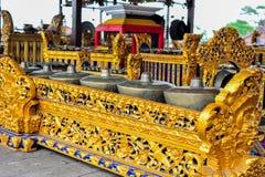 Etnic gamalan musikinstrument för Balinese Royaltyfri Fotografi