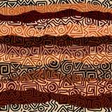 Etnic geslagen patroon stock illustratie