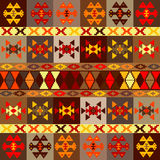 Etnic motifs background, carpet with folk ornaments Stock Image