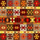 Etnic motywów tło, dywan z ludowymi ornamentami Obraz Stock