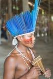 Etniczna chłopiec z malującą twarzą Obrazy Royalty Free