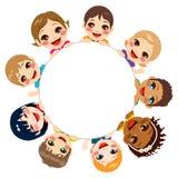 Etniczna dziecko grupa ilustracja wektor