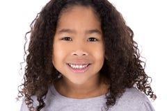 Etniczna dziewczyna na białym tle Zdjęcia Stock