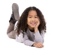 Etniczna dziewczyna na białym tle Obraz Stock
