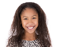 Etniczna dziewczyna na białym tle Obraz Royalty Free