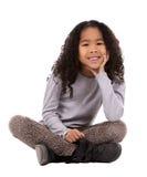 Etniczna dziewczyna na białym tle Obrazy Stock