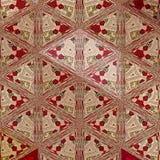 Etniczna gypsy tkanina w trójbokach z różami royalty ilustracja