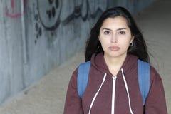 Etniczna kobieta z przerażającym spojrzeniem zdjęcia stock
