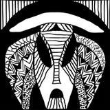 Etniczna plemienna maska tradycyjnej rytuał maski rodzimi szamany antyczni plemiona i religia wudu Afryka, Ameryka i Australia, ilustracja wektor
