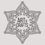 Etnicznego logotypu dekoracyjny element ręka patroszona Obraz Royalty Free