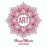 Etnicznego logotypu dekoracyjny element ręka patroszona Obrazy Royalty Free