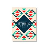 Etnicznego stylowego abstrat oryginalny projekt, ethno plemienny geometryczny ornament, modny deseniowy element dla wizytówki, lo royalty ilustracja