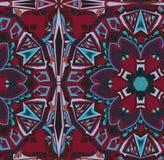 Etnicznej plemiennej mody hindusa abstrakcjonistyczny wzór Zdjęcie Stock