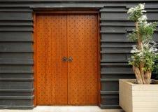 Etniczni architektoniczni wejściowi drzwi Fotografia Royalty Free