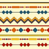 Etniczni bezszwowi wzory Plemienni geometryczni tła Nowożytna abstrakcjonistyczna tapeta również zwrócić corel ilustracji wektora Obrazy Stock
