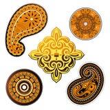 Etniczni ornamenty ustawiający Obraz Royalty Free