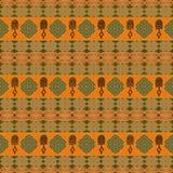 Etniczny Afrykański plemienny siamless wzór Obrazy Royalty Free