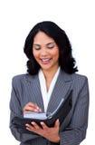 etniczny agenda bizneswoman ona robi notatkom Zdjęcia Royalty Free