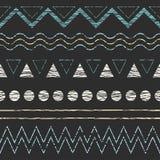 Etniczny bezszwowy geometryczny wzór Zdjęcie Stock